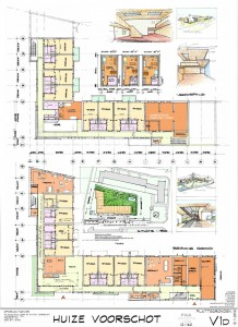 studio's en twee gemeenschappelijke woonkamers